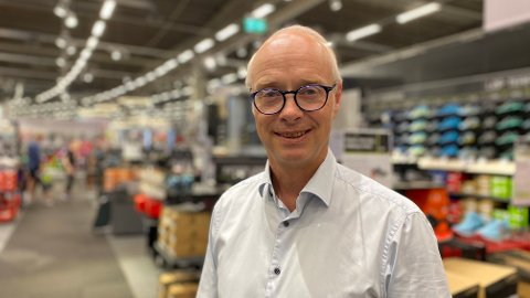 NYE TALL: Konsernsjef Pål Wibe i XXL la fredag morgen fram kvartalsrapporten for fjerde kvartal i 2020, og tallene for hele 2020.