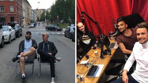 KLAR TALE: Christian Wessel (t.v. i bildet til venstre) og Franco Roche (i midten i bildet til høyre) hjelper deg før runde 23 i Fantasy Premier League.