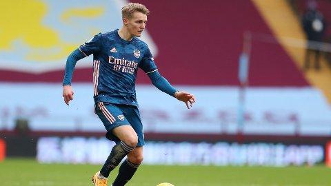 BYTTET INN: Martin Ødegaard ble byttet inn i det 65. minutt, og fikk med det sin andre kamp for Arsenal.