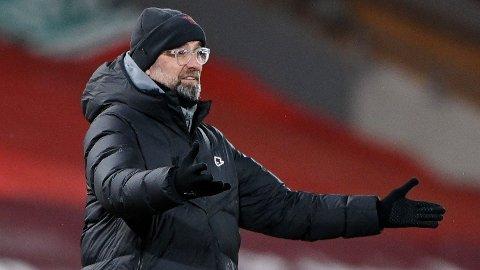 TØFF KVELD: Det ble en tøff kveld for Jürgen Klopps menn da laget tapte 1-4 for Manchester City.