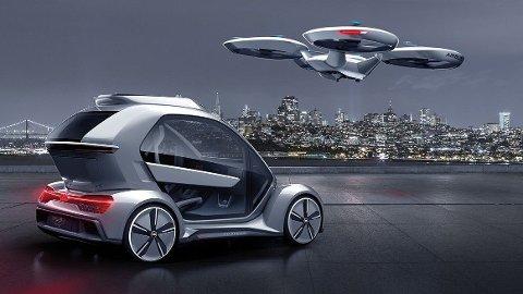 FREMTIDEN? Volkswagen jobber med flygende biler.