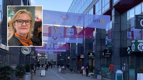 STENGT/ÅPENT: Men Nille-sjef og flere andre har åpnet butikken, holder andre stengt i Ullevål Stadion kjøpesenter.