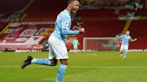 Raheem Sterling og Manchester City står med 14 strake seire før kveldens hjemmekamp mot Tottenham.