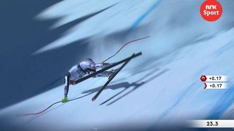 VANVITTIG: Maxence Muzaton klarte å lande på beina fra denne situasjonen.