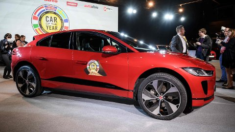 Her ser vi en Jaguar I-Pace-modell som er selskapets eneste el-bil akkurat nå.