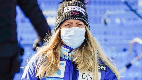 KRITISK: Ragnhild Mowinckel likte ikke forholdene i slalåmbakken i Cortina mandag.