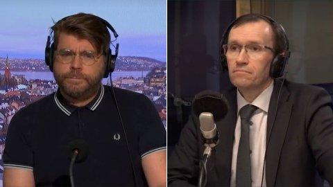 SKARP DUELL: Redaktør i Bergensavisen, Sigvald Sveinbjørnsson gikk til angrep på klimapolitisk talsmann Espen Barth Eide (Ap).