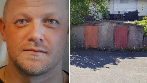 Viggo Kristiansen har alltid hevdet at han var her, i sykkelbua utenfor familiens hjem på Eg, da Lena og Stine Sofie ble drept i Baneheia.