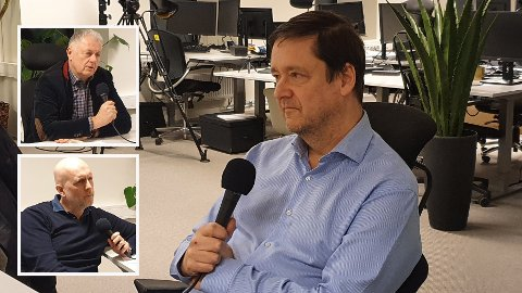 TOPPMØTE: John Christian Elden er gjest i studioet til Gunnar Stavrum og Ole Eikeland.