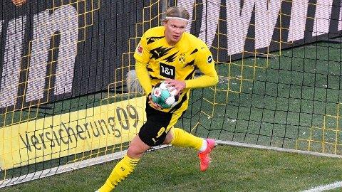 Erling Braut Haaland starter for Borussia Dortmund i kveldens Champions League-oppgjør mot Sevilla.