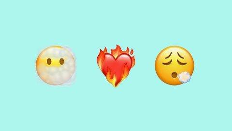 UTVALG: Både nye utrykk for kjærlighet, og ansikter skal være en del av Apples nye emojier.