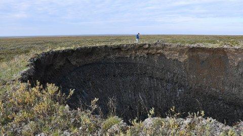 UNDERSØKT: Dette siste krateret har blitt undersøkt av de russiske forskerne.