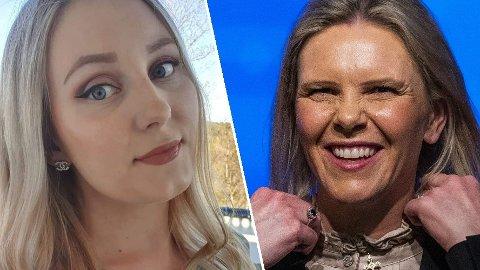 ADVARER: Lokallagsleder Silje Flaten Haugli i Tvedestrand Frp vil ikke ha Sylvi Listhaug som ny Frp-leder, og frykter konsekvensene for partiet.