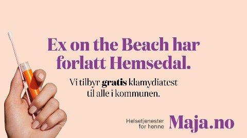 GRATIS: Alle i Hemsedal kommune kan neste uke få en gratis hjemmetest for klamydia.