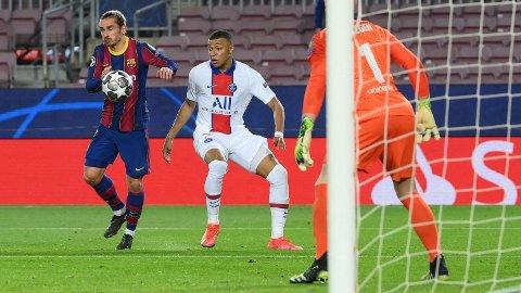 Kylian Mbappe i aksjon mot Barcelona tirsdag.