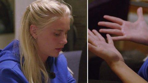 REISER HJEM: I tirsdagens episode av «Camp kulinaris» får de andre deltakerne beskjed om at Amalie Snøløs ikke kommer tilbake.