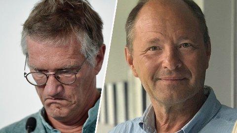 UENIGE: Björn Olsen, professor i infeksjonssykdommer, tror Sverige kan klare det de har gjort på New Zealand. Statsepidemiolog Anders Tegnell (t.v) er mer pessimistisk. Foto:Stina Stjernkvist/NTB/AP og Lisa Abrahamsson/Sveriges Radio