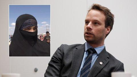 KRAFTSALVE: Frps innvandringspolitiske talsmann Jon Helgheim reagerer kraftig på at regjeringen har hentet hjem en terrormistenkt IS-kvinne som nå ender opp med å bli løslatt før rettssaken.