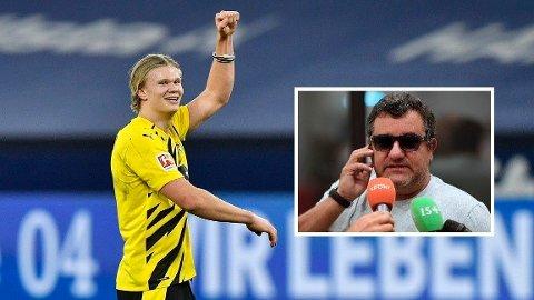 SUPERAGENT: Mino Raiola skal sørge for at Erling Braut Haaland fortsetter å ta kloke klubbvalg.