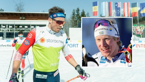 TOK EN SJANSE: Oskar Svensson valgte å gå på blanke ski i sprintfinalen. Det skjønte nordmennene lite av.