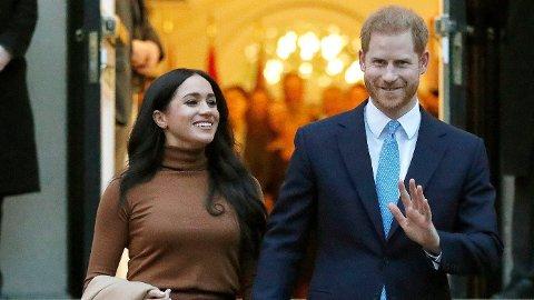 TRAKK SEG TILBAKE: Prins Harry og kona Meghan er ikke lenger medlemmer av det britiske kongehuset, og bor i USA.