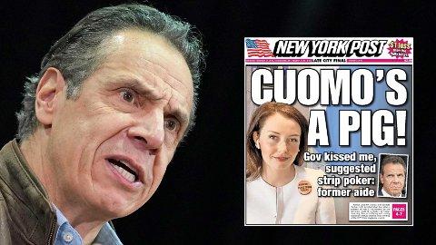 New Yorks guvernør Andrew Cuomo er i hardt vær etter at flere kvinnelige medarbeidere har anklaget ham for seksuell trakassering.