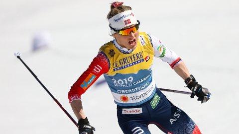 NYTT GULL: Therese Johaug tok sitt andre gull i VM i Oberstdorf på kvinnenes 10 km.