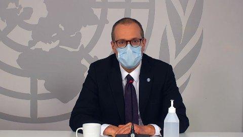 BER OM ØKT INNSATS: WHOs Europa-direktør Hans Kluge på en pressekonferanse torsdag.