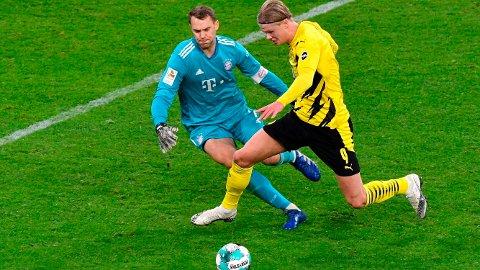 Erling Braut Haaland scoret att av målene for Dortmund da hans lag tapte 2-3 borte mot Bayern München i november. Det blir ikke lettere for Braut Haaland og hans lagkamerater å slå Bayern München på Allianz Arena lørdag kveld.