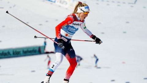 OVERLEGEN: Therese Johaug var overlegen på tremila og tok sitt fjerde gull i VM i Oberstdorf.