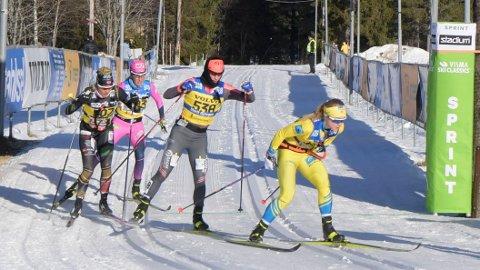 COMEBACK: Marit Bjørgen ble nummer to i Vasaloppet i hennes comeback i langrennssporet.