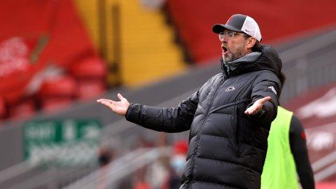 HVA NÅ? Jürgen Klopp var en frustrert skikkelse på sidelinjen.