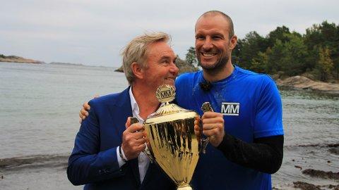GIR SEG: Sesongen der Aksel Lund Svindal vant, ble Pedersens siste som programleder.