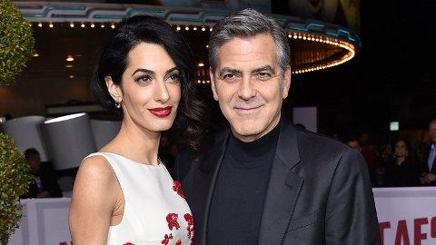 LYKKELIG GIFT: Amal Clooney og George Clooney giftet seg i 2014.