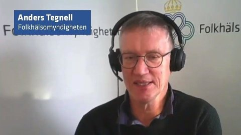 Statsepidemiolog Anders Tegnell ber folk fortsette å ta AstraZeneca-vaksinen, hvis det er den de får tilbud om.