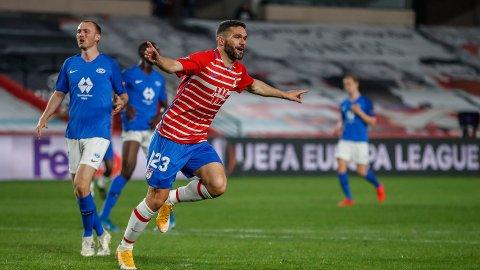 SCORET: Jorge Molina scoret Granadas mål i førsteomgang.