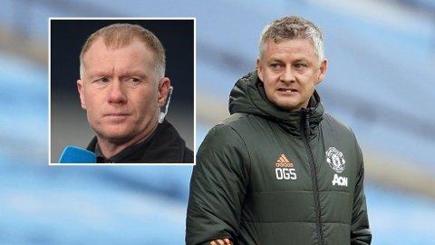 KRITISK: Paul Scholes fulgte Ole Gunnar Solskjær og hans Manchester United-lag i aksjon mot AC Milan som ekspert for engelske BT Sport.