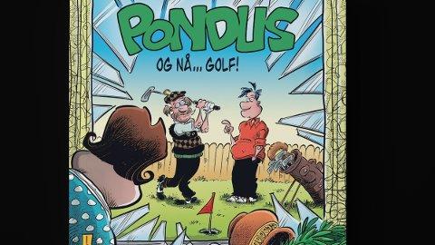 Pondus-skaper Frode Øverli elsker fotball, men han har også et stort forhold til golfen. Det har gitt mye humor.