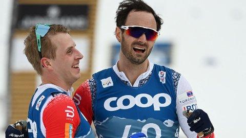 DOBBELT LYN: Klubbkameratene Simen Hegstad Krüger og Hans-Christer Holund sikret dobbelt norsk på femmila i Sveits.