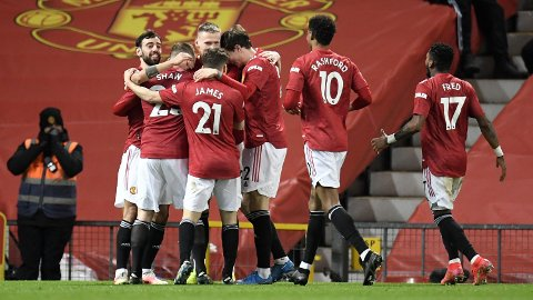 SEIER: Manchester United kan juble for seier.