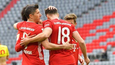 Robert Lewandowski og Bayern München har et strålende utgangspunkt foran kveldens returkamp hjemme mot Lazio i åttedelsfinalen i Champions League.