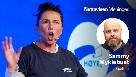 -Den vanligvis fornuftige Heidi Nordby Lunde viser også en total mangel på innsikt, skriver Sammy Myklebust.
