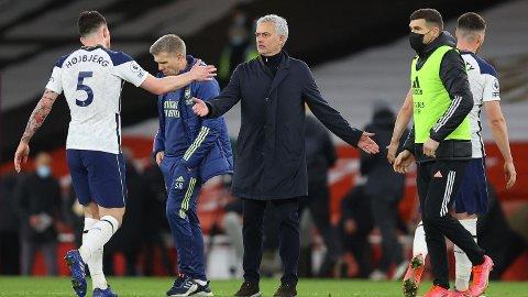 Jose Mourinho måtte unnvære viktige Pierre-Emile Höjbjerg mot Dinamo Zagreb torsdag. Dansken er tilbake for Tottenham i kveld.