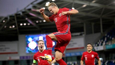 Erling Braut Haaland har allerede scoret seks mål på fire landskamper for det norske A-landslaget. Vi tror han kommer til å score flere mot Gibraltar onsdag.