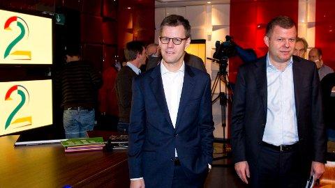 GIGANTLØNN: Konsernsjef Steffen Kragh og finansdirektør Hans J. Carstensen leder et av Nordens største mediekonsern, og har tjent rundt 368 millioner kroner de siste ni årene.