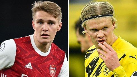 DUO: Det er store forventninger til Martin Ødegaard og Erling Braut Haaland på landslaget.