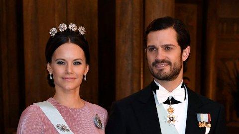 Prinsesse Sofia og prins Carl Philip på kongen og dronningens Nobelmiddag i 2016.