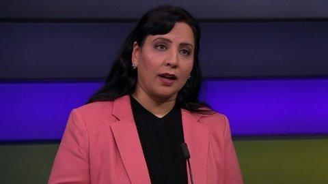 BLI HJEMME:Afshan Rafiq (H), ga tydelig uttrykk for at nordmenn burde holde seg i eget land i påsken, da hun stilte i NRK-programmet Debatten tidligere denne uken.