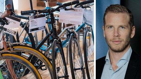 PRISØKNING:Are Vittersø i Prisjakt.no sier at de ser en klar prisøkning på sykkelkategorien det siste året. Arkivfoto/illustrasjonsfoto av sykler.