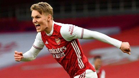 FRA START: Martin Ødegaard spiller fra start mot Liverpool lørdag kveld.